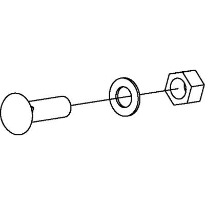 - Universal Cutting Edge Bolt Kit (10) 5/8x2-1/2in