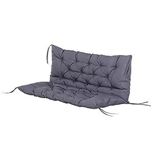 Outsunny Coussin Matelas Assise Dossier pour Banc de Jardin balancelle canapé 2 Places Grand Confort 120 x 110 x 12 cm…