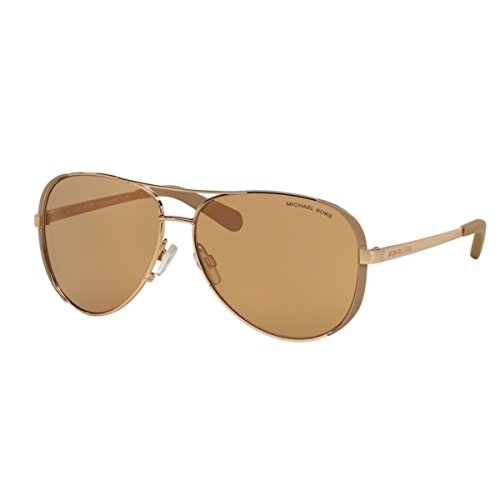 Michael Kors MK5004 1017R1 Gold Chelsea Pilot Sunglasses Lens Category 2 Lens M