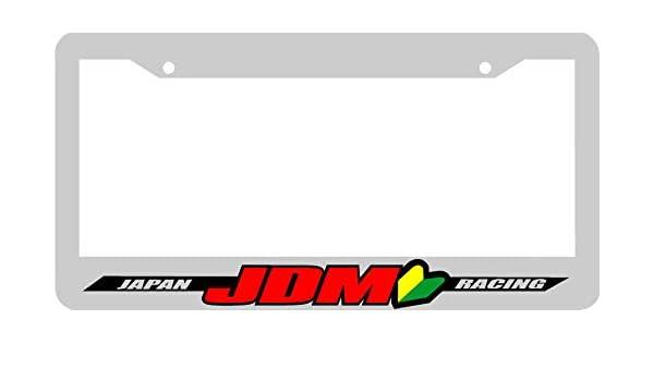 black JAPAN RACING JDM wakaba leaf License Plate Frame