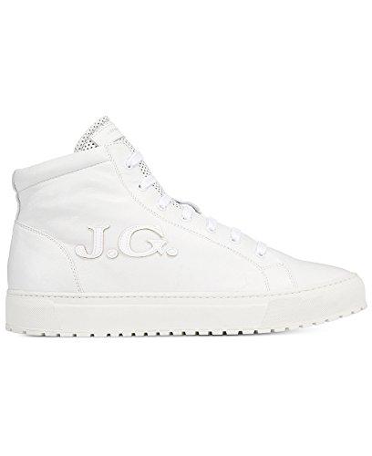 John Galliano Mens Gig En Hightop Sneakers Oss 10 Eu 43 Vit