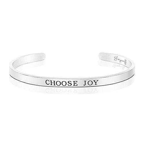 Mantra Cuff Bracelet Silver...