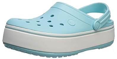 Crocs Crocband Platform Clog ice Blue, 2 Men/ 4 Women M US
