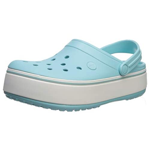 Crocs Crocband Platform Clog|Comfortable Fashion Shoe, Ice...