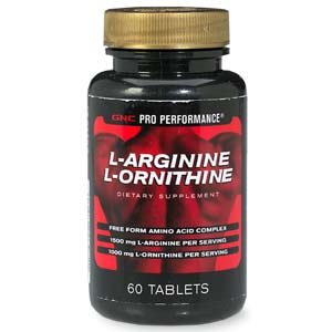 GNC Pro Performance L-Arginine L-ornithine, Tablets, 60 ch