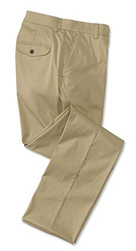 Orvis Men's Cotton-Blend Chinos - Plain Front Cotton-Blend Chinos, Khaki, 34W X 35 L