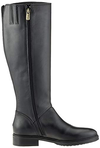 Tommy Femme Boot Leather Bottes Riding Basic black Hautes Th 990 Noir Hilfiger rwAy4rqfU