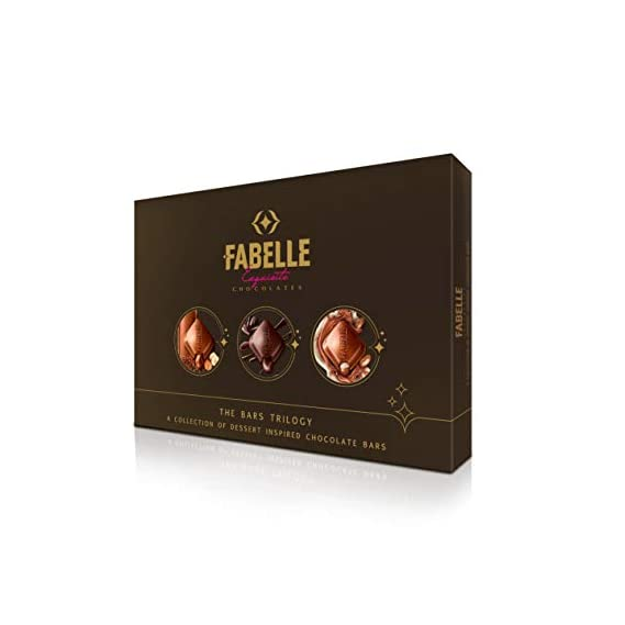 Fabelle Exquisite Chocolates, The Bars Trilogy Gift Box, 393g