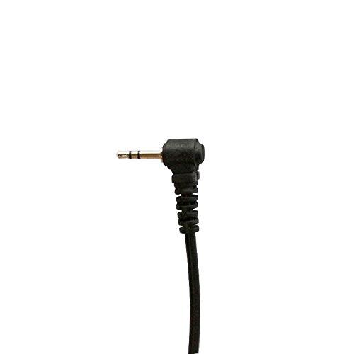 Haito 1 Pin Covert Acoustic Tube Auricular Headset para Motorola MD200TPR MH230R MR350R MS350R MT350R MG160AMH230TPR COBRA Talkabout Walkie Talkie Radio bidireccional 1pin 2 Pack