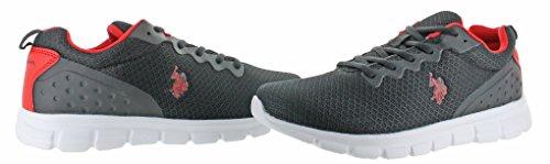Us Polo Assn Utiliser Des Chaussures De Sport Jogger Sneakers Noir-rouge