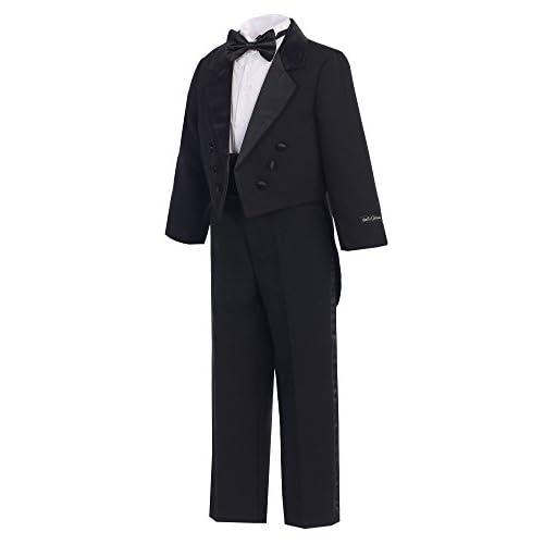 Bello Giovane Boys Classic Tuxedo with Tail
