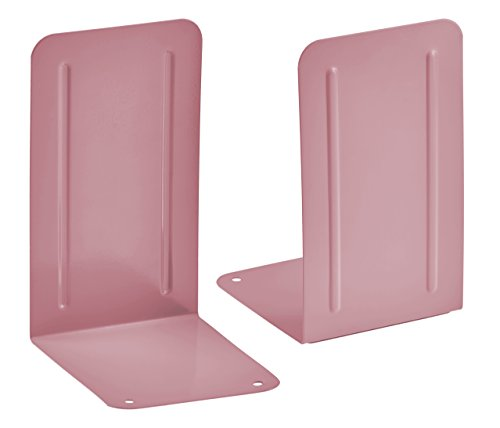 Acrimet Premium Bookends (Pink Color) (1 Pair)