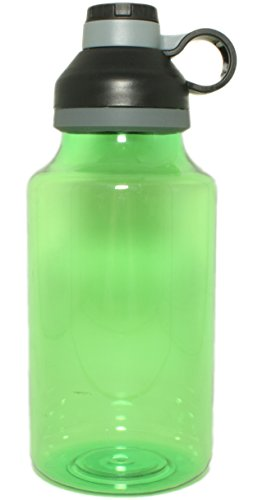 SILVER ONE 64 Ounce oz XL/XXL Plastic Travel Water Bottle with Twist Off Cap & Sipping Spout | Leak/Spill-Proof, Portable for Gym, Hiking, Camping, BPA Free - by EcoOne]()