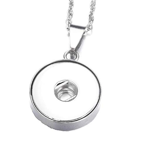 - Pizazz Studios Stainless Steel Snap Charm Necklace