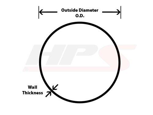AT90-275-CLR-275 HPS 2.75 16-Gauge 90/° Bend 6061-T6 Aluminum Elbow Tubing