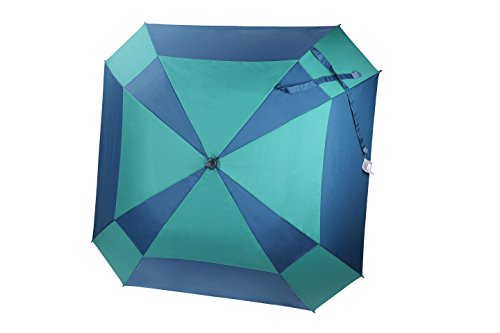 po-campo-rain-street-double-layer-mosaic-umbrella-blue