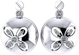 Dar Platinum Plated Clips Earring For Women (Dar0000257)