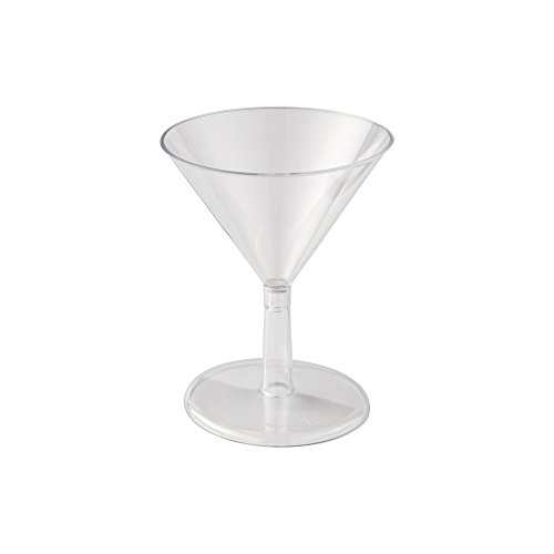 (WNA Petites 24 Count Plastic Martini Glasses, Clear, 2)