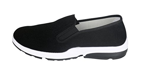 UNOW Chinese Traditional Cloth Kung Fu Shoes,Sporty Soles,Black,38 | (US:Men 6.5 | Women 8)