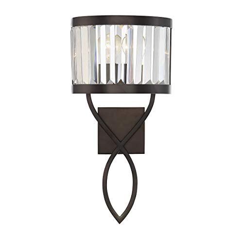 Savoy House 9-4062-1-28 Nora 1-Light Sconce in Burnished Bronze Burnished Bronze Crystal Type