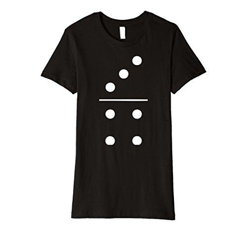 Group Of Three Halloween Costumes (Womens Domino Halloween Costume Group T-Shirt 3-4 Tile Piece Tee Large Black)
