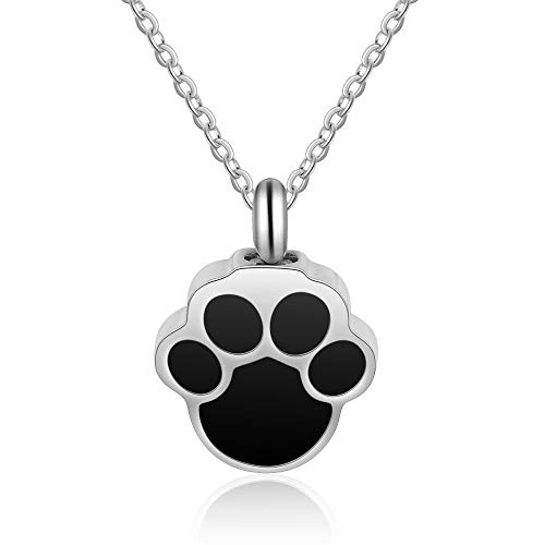 Lam Hub Fong Personalized Pets Ashes Necklace Free Engraving Keepsake Memorial Necklace Cremation Urn Ashes Jewelry Pet