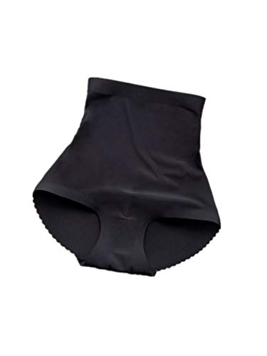 onecome Woman Fasion Fake Padded Panties Body Shaper High Waist Seamless Briefs Black M (Look At My Ass Look At My Thighs)