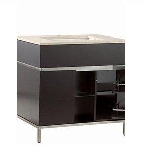 Charmant Modern Bathroom Vanity In Espresso With Brushed Nickel Metal Legs Bathroom  Sink Vanity Cabinet Faucet Vessel