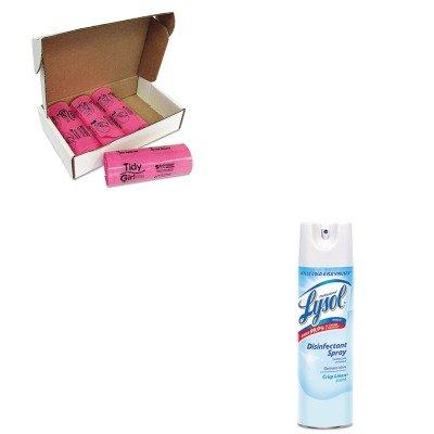 KITRAC74828CTSTOTGUF - Value Kit - Stout Tidy Girl Feminine Hygiene Sanitary Disposal Bags (STOTGUF) and Professional LYSOL Brand Disinfectant Spray (RAC74828CT)