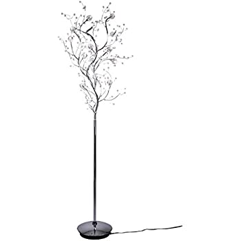 Viviana Collection 8 Light Tree Like Crystal Floor Lamp