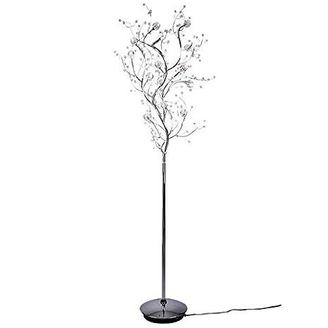 Viviana Collection 8 Light Tree Like Crystal Floor Lamp With