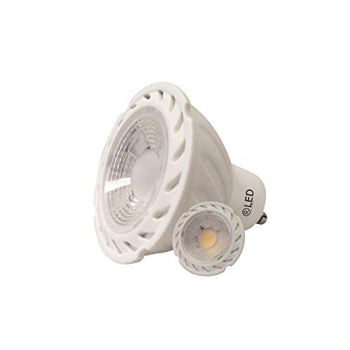 RLED Bombillas LED COB GU10, 7 W, Blanco, 55 x 50 mm, 2 Unidades: Amazon.es: Iluminación