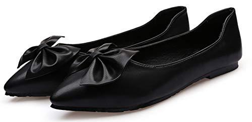 Bout Danse N Noir Aisun ud Belle Ballerines De Pointu Chaussures Femme 0w77pxqXI