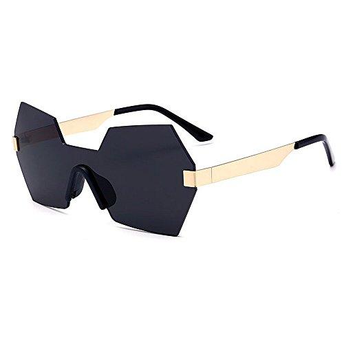 para Protección Forma C6 de Lente de de Sola al Mujeres Color Irregular Que de Aire de Sol Color viaja Que la conducen de Peggy una Pieza Personalidad Gu Gafas Libre C1 UV AUwxvvR