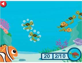 Help match Nemo's ocean friends to their parents.