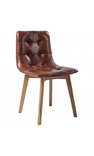 Esszimmerstühle Leder Braun kare design stuhl vintage capitone leder braun antik moritz