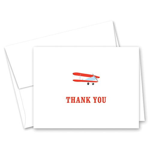 (50 Cnt Airplane Boy Baby Shower Thank You Cards)