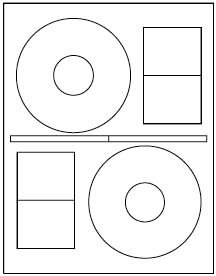 200 Label Outfitters Brand Stomper Pro Format CD-DVD Labels (100 Sheets)
