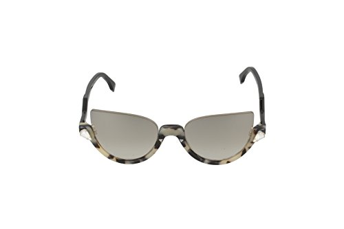 Havana de 0138 Gafas S Brown Black SOL Negro Silver Mirror Fendi qYxxgwd