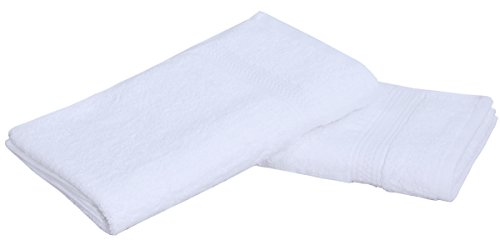 Pure Cotton Hotel & Spa Bath-Towels White - 6 Pack (27 by 54 inches) 400 GSM Easy Care, Ringspun Cotton for Maximum Softness and Absorbency - by Utopia Towels