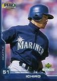 2001 UDA Ichiro Suzuki Mariners Rookie All Star Playmaker Bobblehead with Rookie Card