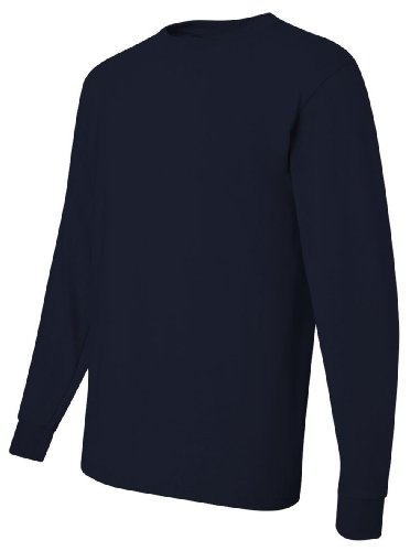 Jerzees Heavyweight Blend 50/50 Long Sleeve T-Shirt, XL, J. Navy ()