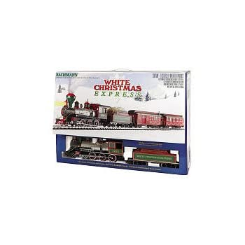 bachmann white christmas express ready to run electric train set large g scale