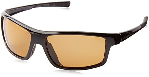 Ryders Strike R453-001 Polarized Wrap Sunglasses, Black, 55 mm