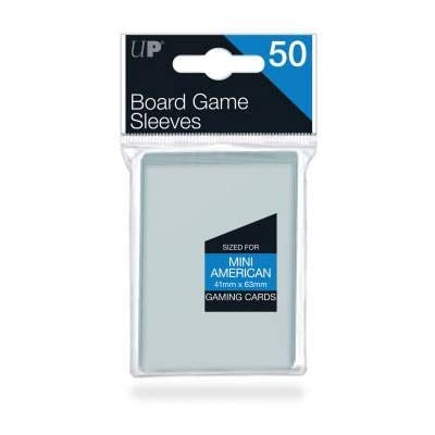 Ultra Pro 41mm X 63mm Mini American Board Game Sleeves 50ct: Sports & Outdoors
