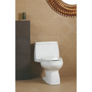 3810-0 Comfort Height Elongated 1.28 Gpf Toilet With Aquapiston Flush Technology And Left-Hand Trip Lever, White