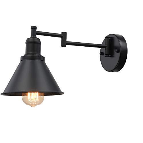 ALLTRUST 1-Light Industrial Wall Sconce Black Finish(Hardwire x 1 Set)