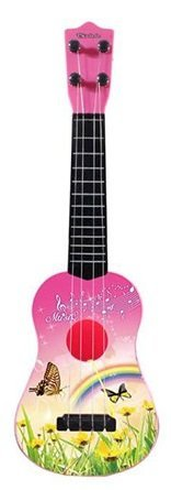 21 inch Guitar Ukulele Toy for Kids, Guitar for Children Educational Learning, Children's Tunable Vibrant Sounds, 4 stringed Guitar Ukulele with pick. (Pink) (Best Ukulele For Child)