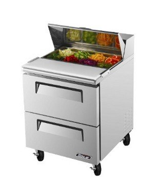 Turbo Air - Super Deluxe 8 Pan 2 Drawer Stainless Refrigerated Sandwich/Salad Prep Table