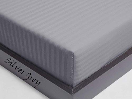 - 600 Thread Count Hotel Quality Egyptian Cotton ( 1 PC ) Fitted / Bottom Sheet Mattress Fits 7-9 Inches Fully Elastic Deep Pocket Full/Double (54